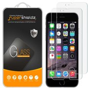 [2-Pack] Apple iPhone 8 / iPhone 7 Tempered Glass Screen Protector, Supershieldz Anti-Scratch, Anti-Fingerprint, Bubble Free [3D Touch Compatible]