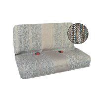 Saddle Blanket Bench Seat Cover, Baja Woven Design - Universal Fit for Chevrolet, Ford, Dodge, Toyota, Jeep Cars and Trucks (Gray)