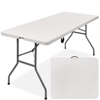 Best Choice Products 6ft Indoor Outdoor Portable Folding Plastic Dining Table w/ Handle, Lock