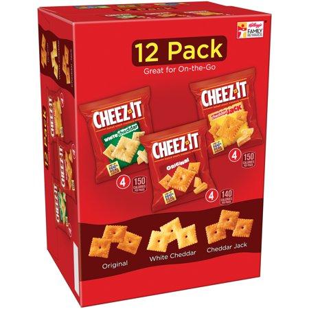 Kellogg's Cheez-It Baked White Cheddar, Original, & Cheddar Jack, 12.1 Oz., 12 Count ()