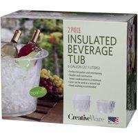 Creative Ware Clear Plastic Insulated Party Tub, 6 Gallon