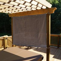 Alion Home Mocha Brown Sun Shade Panel Privacy Screen with Grommets on 4 Sides for Outdoor, Patio, Awning, Window Cover, Pergola or Gazebo -200 GSM 8' X 6'
