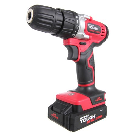 Hyper Tough HT Charge 20-Volt Max Lithium Ion Cordless Drill-Driver, - Power Ice Drill