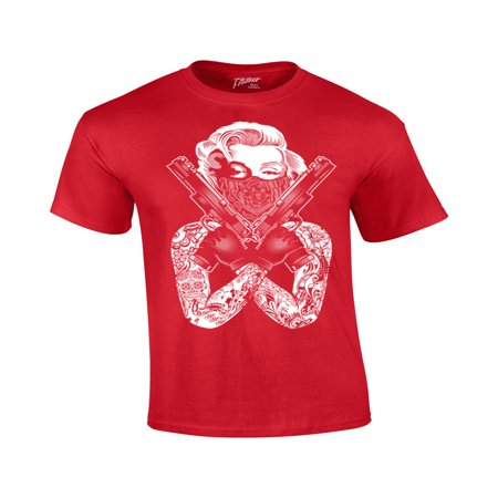 Gangster Guns Tattoo T-Shirt - 1920 Gangster Clothing