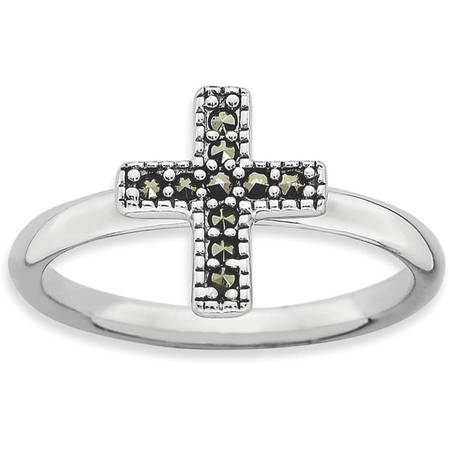 Marcasite Sterling Silver Cross Ring