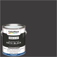 ColorPlace Pre Mixed Ready To Use, Interior Paint, Onyx Black,Semi-Gloss Finish, 1 Gallon