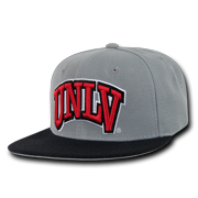 787de2474212e6 NCAA UNLV University Nevada Las Vegas Snapback Baseball Caps Hat Grey Black  Bill