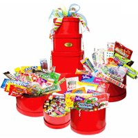 Candy Crate Mega Holiday Nostalgic Candy Gift Tower (Red)