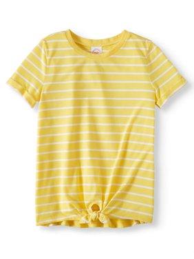 Short Sleeve Tie Front Tee (Little Girls, Big Girls, & Plus)