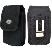 Vertical Rugged Canvas Case Cover Holster with Fixed Belt Clip and Belt Loop FOR BLU Life