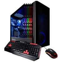 iBUYPOWER View9000W - Gaming Desktop PC - VR Ready - Intel i7 8700 - 16GB Memory - NVIDIA GeForce GTX 1070 8GB - 240GB SSD - 1TB Hard Drive - Wi-Fi - Windows 10 Home 64-Bit (Available in stores)
