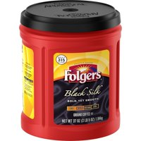 Folgers Black Silk Ground Coffee, Dark Roast, 37-Ounce