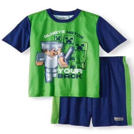 Boys' Minecraft 2 Piece Pajama Sleep Set (Little Boy & Big Boy) for $<!---->