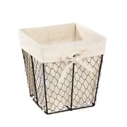 Homezone Square Wire Basket With Liner