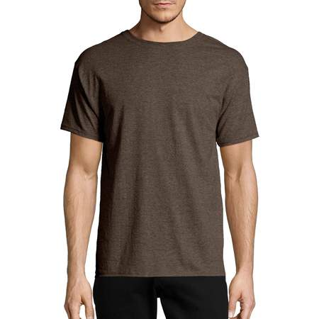 Hanes Big & tall men's ecosmart soft jersey fabric short sleeve (Sleeved Dual Fabric)
