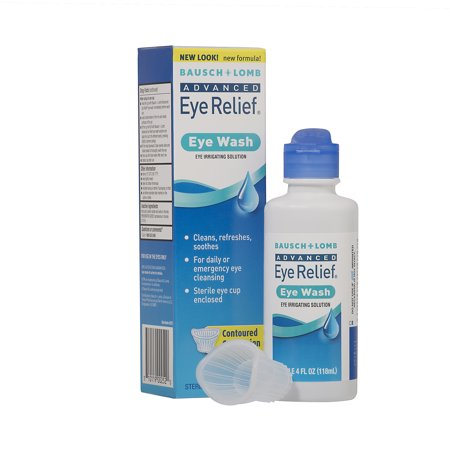 Bausch & Lomb Advanced Eye Relief Eye Irrigating Solution Eye Wash, 4 fl oz