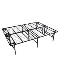 """intelliBASE Lightweight Easy Set Up Bi-Fold Platform Metal Bed Frame, Full 18"""""""