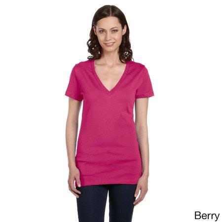 Bella  Women's Jersey Deep V-neck T-shirt ()