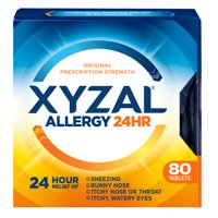 Xyzal 24hr Allergy Relief Antihistamine Tablets, 80ct