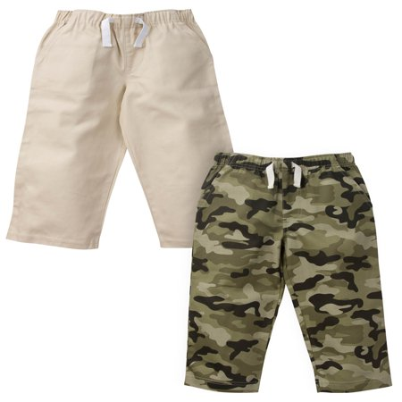 Gerber Graduates Woven Twill Pants, 2pk (Baby Boys and Toddler (Boys Microfiber Cargo Pants)