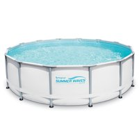 "Summer Waves Elite 14'x42"" Premium Frame Above Ground Swimming Pool with Filter Pump System"