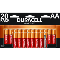 Duracell 1.5V Quantum Alkaline AA Batteries with PowerCheck, 20 Pack