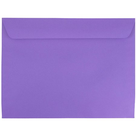 JAM Paper 9 x 12 Booklet Envelopes, Violet Purple Recycled,