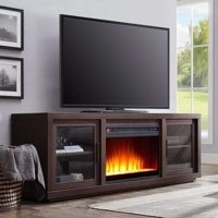 "Better Homes & Gardens Steele Media Fireplace Console Television Stand for TVs up to 80"" Espresso Finish"