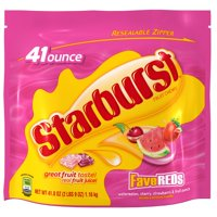 (2 Pack) Starburst, FaveREDS Fruit Chews Candy, 41 Oz
