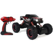 Cross-Country Racing Rock Crawler 4WD Toy Black Rally Truck RC Car 2.4 GHz 1:14 Scale Size w/ Working Suspension, Spring Shock Absorbers