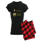 CafePress - One Glass Wine Health Benefits Women's Dark Pajama - Women's Dark Pajamas