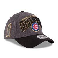 Chicago Cubs New Era 2016 World Series Champions Locker Room On Field 39THIRTY Flex Hat - Graphite/Black - OSFA