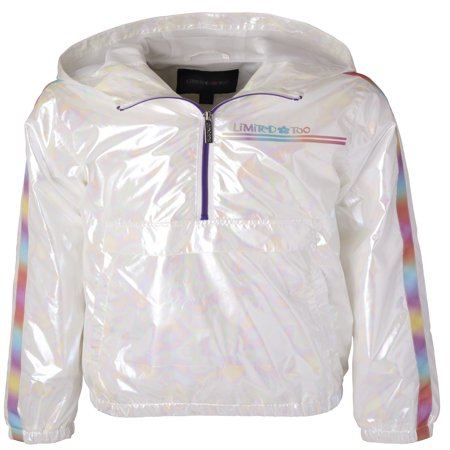 Iridescent Pullover Windbreaker Jacket (Little Girls & Big Girls)
