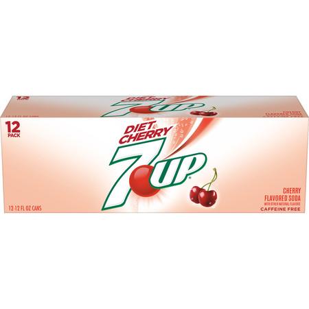 (2 Pack) Diet 7UP Cherry, 12 Fl Oz Cans, 12 Ct ()