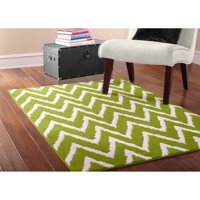 Mainstays Distressed Zig Zag Area Rug