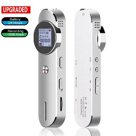 Voice Recorder,2019 Upgraded HD Audio Sound Digital Recorder,TF Card Extended, Password, USB Charge, MP3, 580 Hours