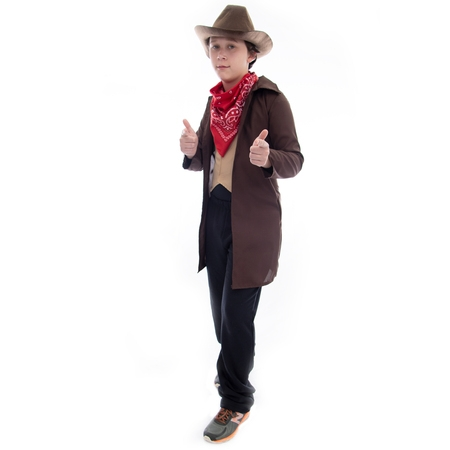 Boo! Inc. Ride 'em Cowboy Halloween Costume | Western Outlaw Sheriff Boys Dress Up - Western Barmaid Costume