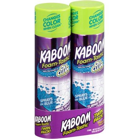 Kaboom Foam-Tastic Fresh Scent Bathroom Cleaner Twin Pack 2-19 oz. Aerosol Cans - Kaboom Games