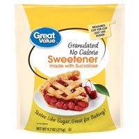 (2 Pack) Great Value Granulated Sweetener with Sucralose, No Calorie, 9.7 oz