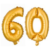 60 Large Number Balloons 60th Birthday Or Anniversary Party Decorations Supplies 40 Inch Gold