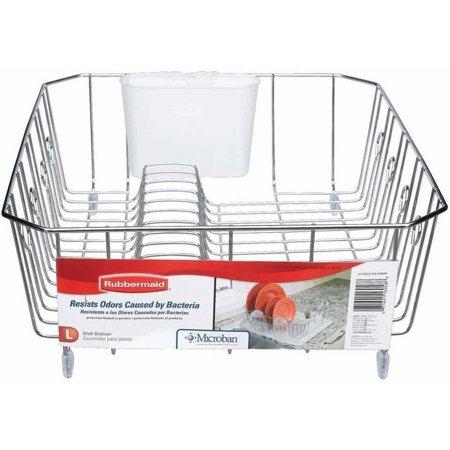 Rubbermaid Large Wire Dish Rack Chrome Walmart Com