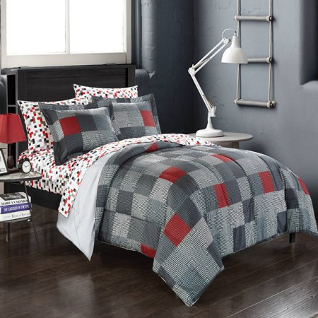 American Original Geo Blocks Bed in a Bag Bedding Comforter Set - Morocco Comforter Set
