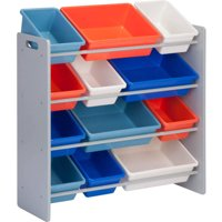 Honey Can Do Kid's Toy Organizer with 12 Storage Bins, Multicolor