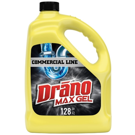 Drano Max Gel Clog Remover, Commercial Line, 128 fl (Best Sink Clog Remover)