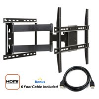 "Atlantic for 37""-84"" TVs, Full Motion TV Wall Mount with HDMI Cable"