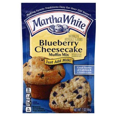 (6 Pack) Martha White Blueberry Cheesecake Muffin Mix, 7oz](Blueberry Muffin Strawberry Shortcake)