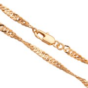 20Inch Necklace Twisted Flat Curb Chain With Lobster Claw Clasp (3-Chain Value Bundle), SAVE $2