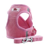 Pet Dog Corduroy Safety Harness Vest Leash Chest Straps Belt Easy Control for Small Medium Large