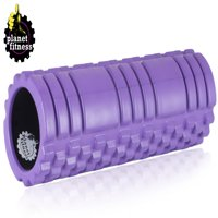 "Planet Fitness Deep Tissue Massage Foam Roller 18"" High Density Grid; EVA Foam"