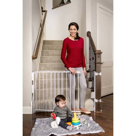 """Regalo Extra Tall Stairway Baby Gate, 27""""-54"""" with Swing Door"""